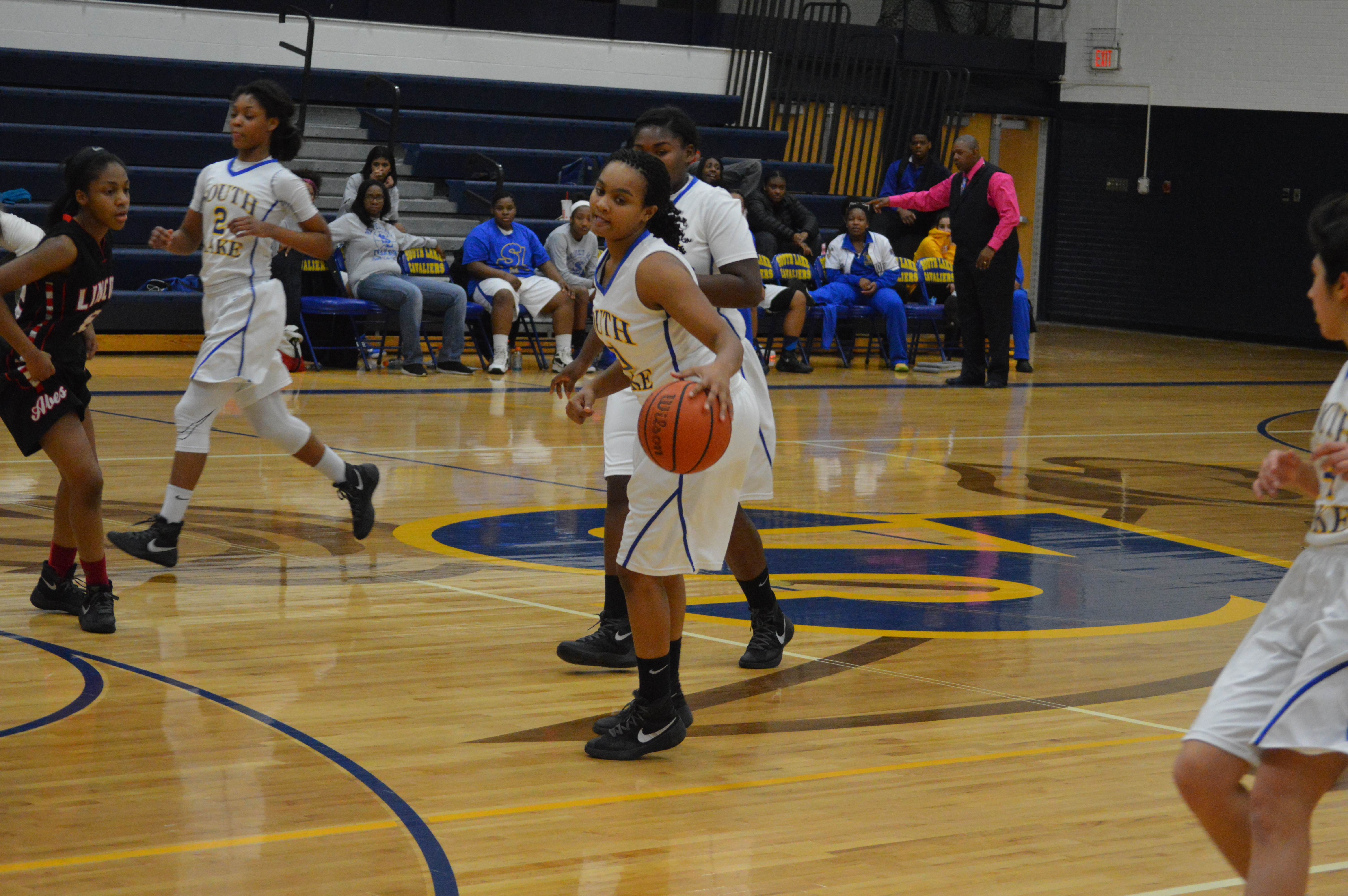 Taking her time, Khadijah Williams '16 runs down the clock against Lincoln.